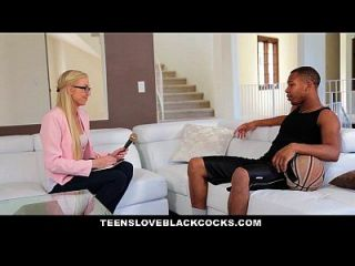 Teensloveblackcocks - Blonde Chick Gets Plundered By Bbc Athlete