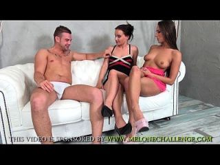 Mea Melone & Wendy Moon Teasing And Humilating Young Guy