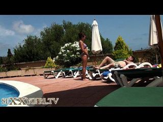 German Camgirl Fuck At The Hotel Pool