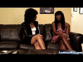 Ebony Les Teen Has First Sexual Experience