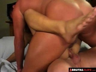 Brutalclips - Kat Kiss Gets Her Tiny Holes Ravaged