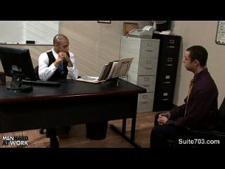 Lustful Gay Gets Nailed And Cummed In The Office