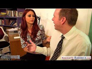 Redhead Babe Monique Alexander Fuck In Office