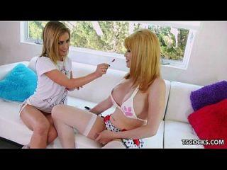 Sheena Shaw And Ts Eva Lin Sharing A Dick