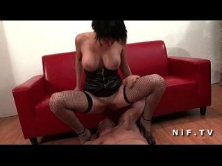 Sexy Big Boobed French Babe In Fishnet Stockings Fucked Hard For Her Casting