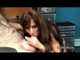Mature Tart Brandi Minx Is On Her Knees Blowing A Geek