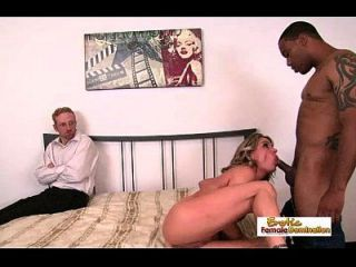 Wife Goes All The Way With A Black Stud Before Her Husband