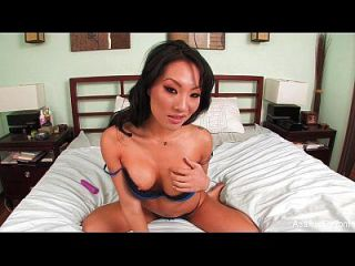Asa Akira Home Video Toy Play In Bed