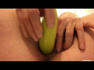 Squirting With A Banana