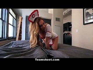 Cfnmteens - Sexy Blonde In Nurse Outfit Gets Pounded Hard