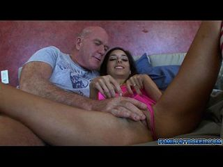 Creepy Step Dad Exploded Over Perky Tits