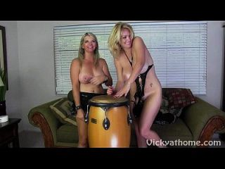 Bongos And Bewbs?! Hot Milfs Vicky Vette & Charlee!