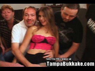 Young Hottie Wife Gang Bang Bukkake!