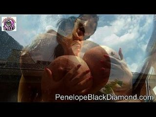 Penelope Black Diamond Outdoor Bikini Handjob Milk Dusche Preview