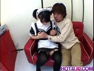 Yuki Hoshino Asian Maid Enjoys Sex With The Master