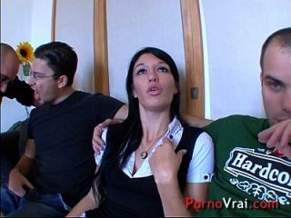 Young Chic Bourgeois Student Sex Orgy Without Resist! French Amateur