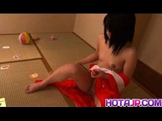Hikaru Momose Sexy Asian Teen Exposes Pussy For Solo Masturbation With Vibrator