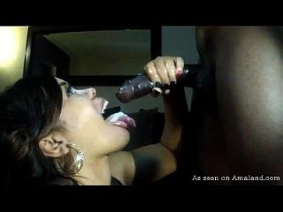 Naughty Black Chick Gets Cum Facial