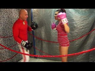 Man Vs Women Boxing / Belly Punching Match 18 Yo Female Vs Man Intergender