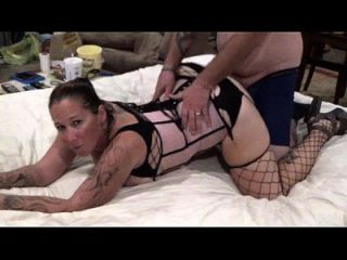 Angie Michelle In Black Fishnet Gets Pounded Doggiestyle And Eats Creampie Pussy