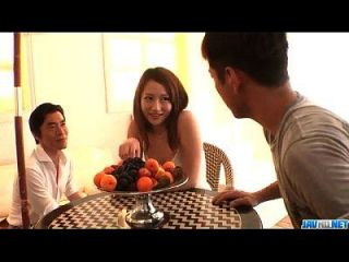 Reon Otowa Asian Model Endures Hardcore Threesome