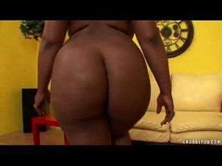 Ebony Sistah With Big Booty Sucks A Big White Cock
