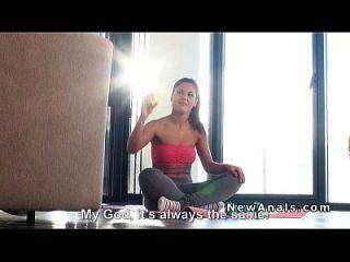 Latina Babe Anal Banged After Yoga