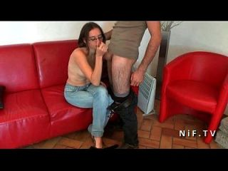 Pretty Young French Brunette Anal Pounded And Creamed For Her Casting Couch