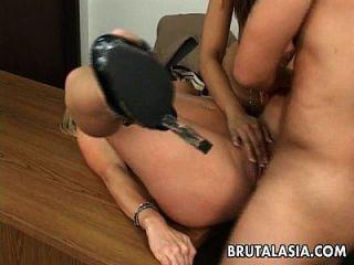 Annie And Her Slutty Friend Fuck The Dude Hard