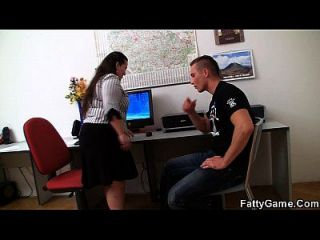 Office Fatty Gets Fucked On The Floor