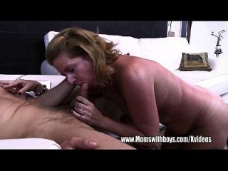 Yanking Cock Over Internet Mom