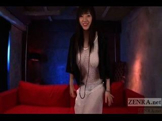 Japanese Azusa Nagasawa Fishnet Dress Subtitled Interview