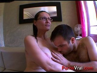 Horny Mature Lady Impales Herself On A Boy