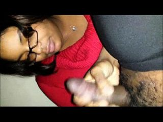 Black Amateur Couple - She Swallows His Cum