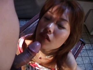 Cute Asian Girl Giving Head With Cum In Mouth