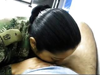 Soldier Girl Happy To Blow And Swallow Her Chief