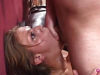 Eve Lawrence Rough Blowjob