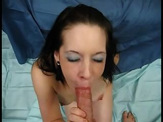 She Gets Her Face Cum Blasted After A Blowjob