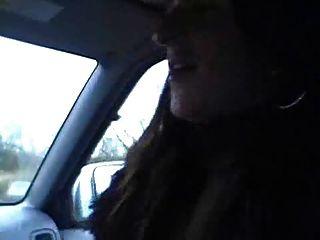 Milf Gives Blowjob In Car A Takes A Facial !