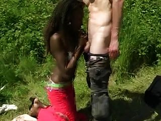 White Man Fucks African Beauty In Ass