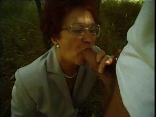 Granny Susanne Sucks And Fucks Outdoors