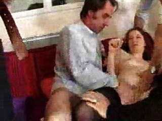 French Woman Fuck With 4 Men - Gang Bang