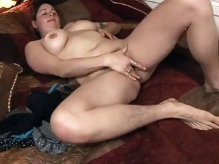Hairy Fat Chubby Ex Girlfriend Masturbating Her Hairy Pussy
