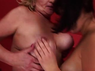 2 Matures With Young Woman