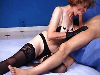 French Hairy Granny Love Anal