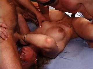 German Young Slut (21) Gangbang - Creampie & Orgasms