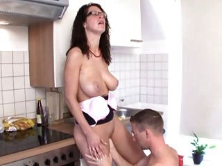 Hot Mom Fucked In The Kitchen