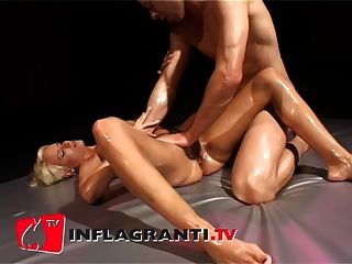 German Couple Oil Massage With A Juicy Final