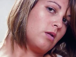 Brunette Sarcha Big Tits Plays With Her Hairy & Juicy Pussy