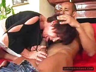 Horny Granny Likes Black Cock 1